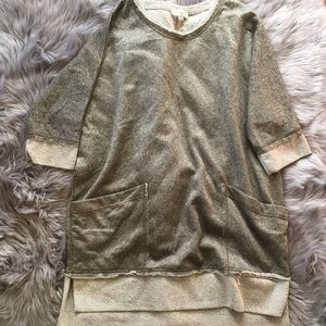 [Umgee] Sparkle French Terry tunic with pockets XL